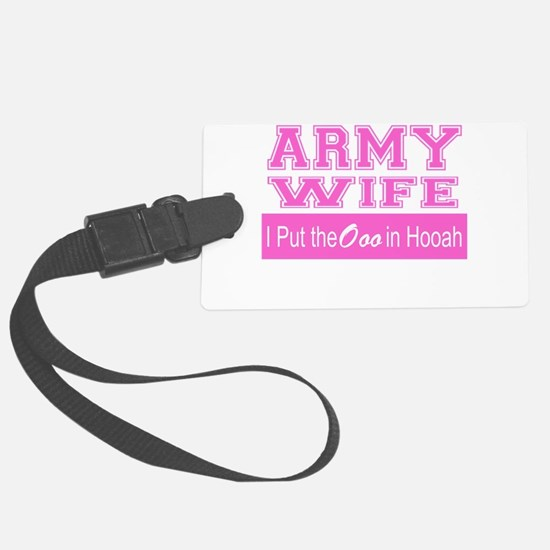 Army Wife Ooo in Hooah_Pink Luggage Tag