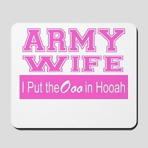 Army Wife Ooo in Hooah_Pink Mousepad