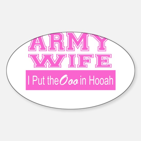 Army Wife Ooo in Hooah_Pink Decal