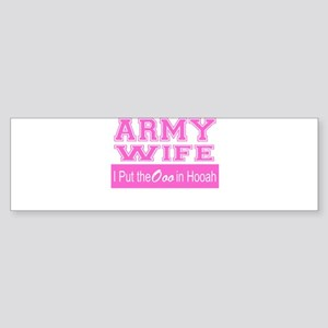 Army Wife Ooo in Hooah_Pink Bumper Sticker