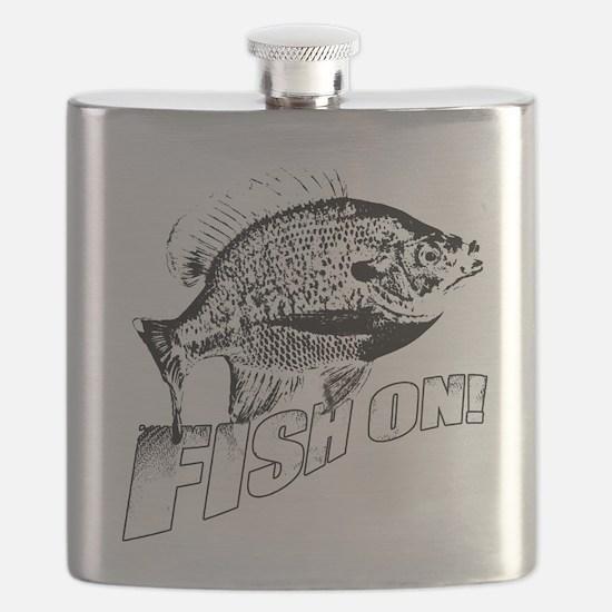 Bluegill Fish on black Flask