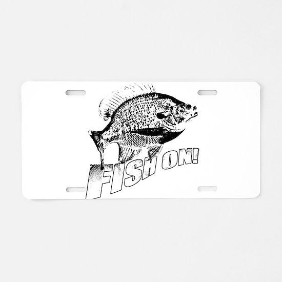 Bluegill Fish on black Aluminum License Plate