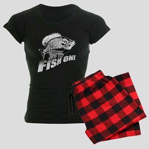 Bluegill Fish on black Women's Dark Pajamas