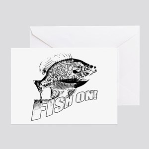 Bluegill Fish on black Greeting Card