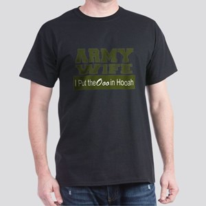 Army Wife Ooo in Hooah_Green T-Shirt