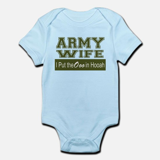 Army Wife Ooo in Hooah_Green Body Suit