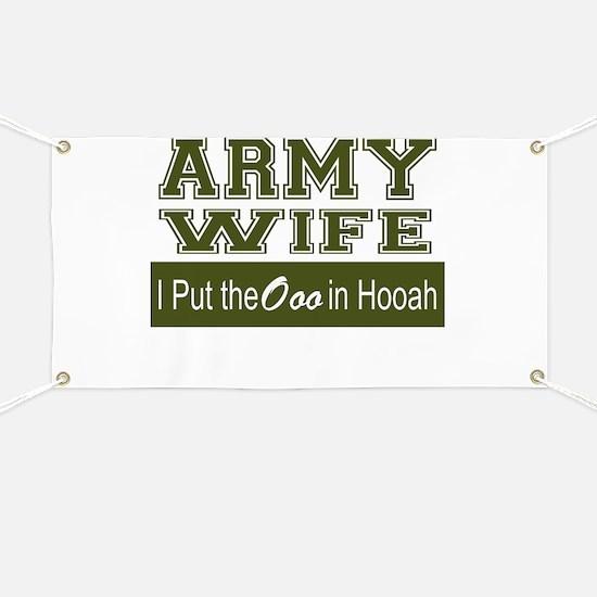 Army Wife Ooo in Hooah_Green Banner