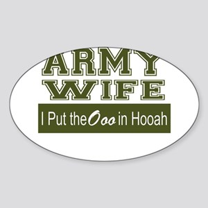 Army Wife Ooo in Hooah_Green Sticker