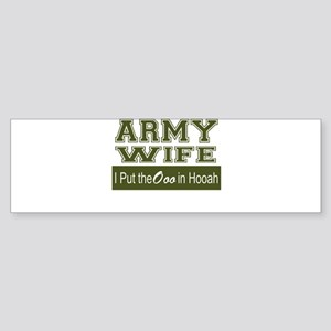 Army Wife Ooo in Hooah_Green Bumper Sticker
