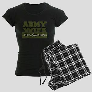 Army Wife Ooo in Hooah_Green Women's Dark Pajamas