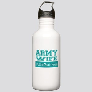 Army Wife Ooo in Hooah Stainless Water Bottle 1.0L