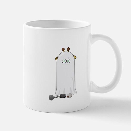 Giraffe dressed up as Ghost Mugs