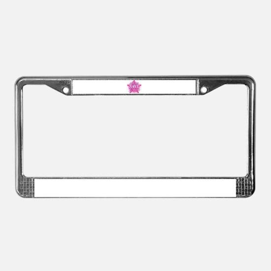 PinkStarNavyMother.png License Plate Frame