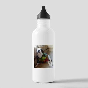 French Bulldog in Tie Dye Water Bottle