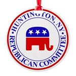 Huntington Gop Round Ornament