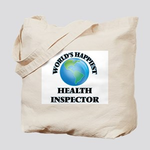 World's Happiest Health Inspector Tote Bag
