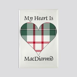 Heart-MacDiarmid dress Rectangle Magnet