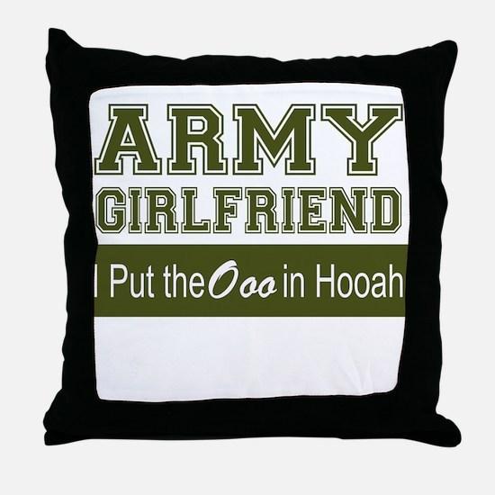 Cute Army girlfriend Throw Pillow