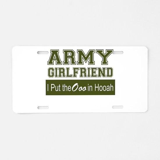 Cute Girlfriend Aluminum License Plate