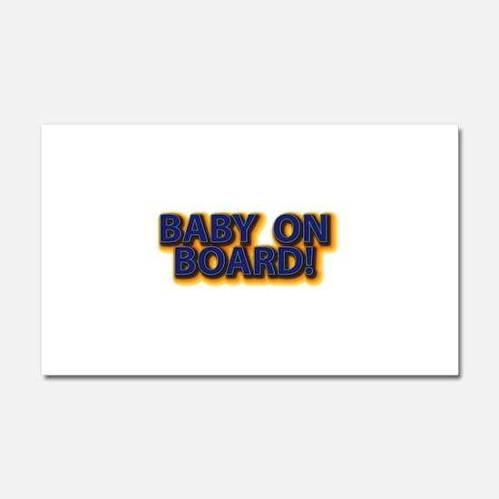 Baby on Board - Blue Car Magnet 20 x 12