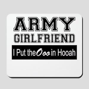 Army Girlfriend Ooo in Hooah_Black Mousepad