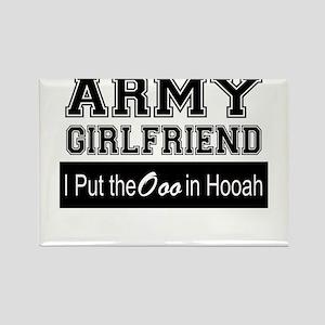 Army Girlfriend Ooo in Hooah_Black Magnets