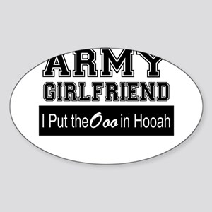 Army Girlfriend Ooo in Hooah_Black Sticker