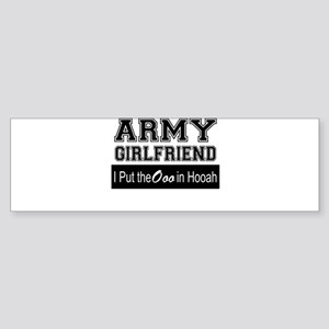 Army Girlfriend Ooo in Hooah_Black Bumper Sticker
