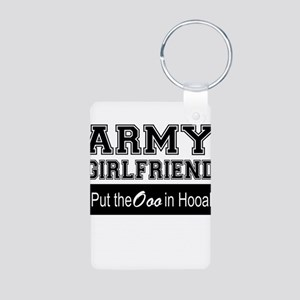 Army Girlfriend Ooo in Hooah_Black Keychains