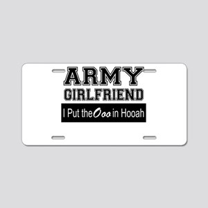 Army Girlfriend Ooo in Hooa Aluminum License Plate