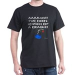 Peanuts Kissed by a Beagle Dark T-Shirt