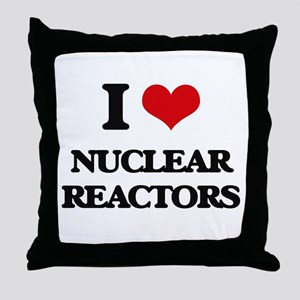 I Love Nuclear Reactors Throw Pillow