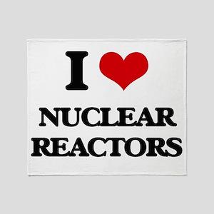 I Love Nuclear Reactors Throw Blanket