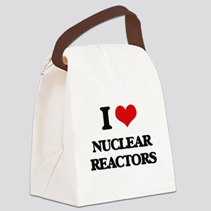 I Love Nuclear Reactors Canvas Lunch Bag