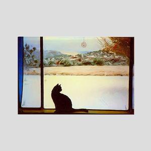 Tosca's Winter Window Magnets