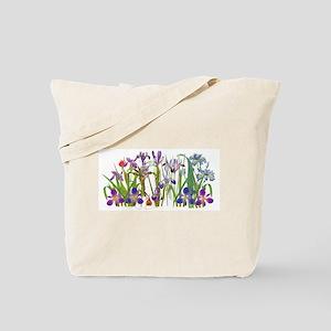 Iris Flowers Floral Botanical Garden Tote Bag