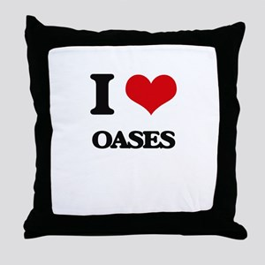 I Love Oases Throw Pillow
