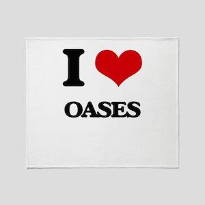 I Love Oases Throw Blanket