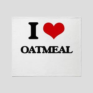 I Love Oatmeal Throw Blanket