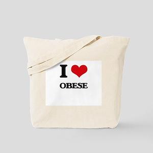 I Love Obese Tote Bag