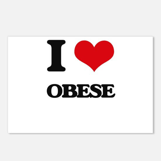 I Love Obese Postcards (Package of 8)