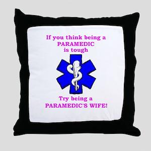 Paramedic's Wife Throw Pillow