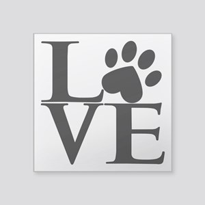 "Animal LOVE Square Sticker 3"" x 3"""