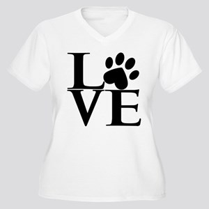 Animal LOVE Women's Plus Size V-Neck T-Shirt