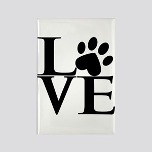 Animal LOVE Rectangle Magnet