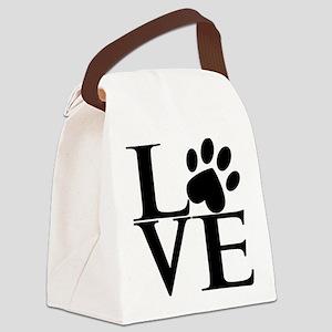 Animal LOVE Canvas Lunch Bag