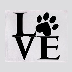 Animal LOVE Throw Blanket