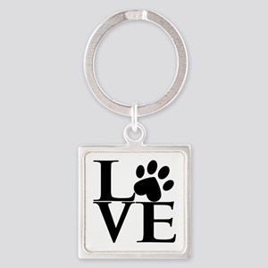 Animal LOVE Square Keychain