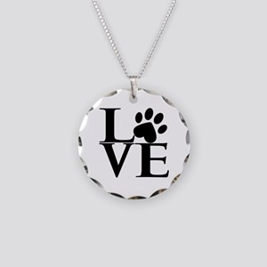 Animal LOVE Necklace Circle Charm