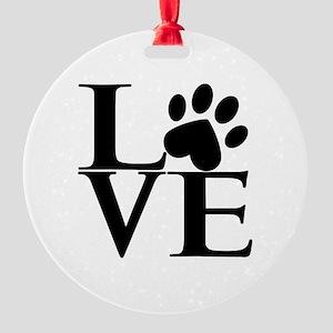 Animal LOVE Round Ornament